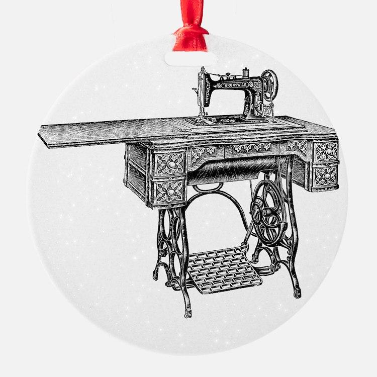 vintage sewing machine Ornament