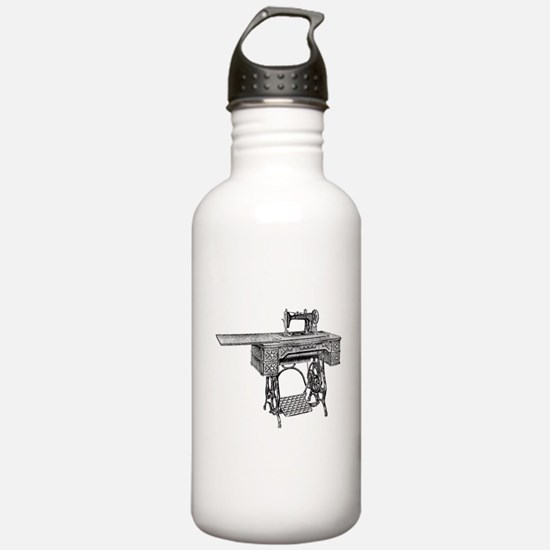 vintage sewing machine Water Bottle