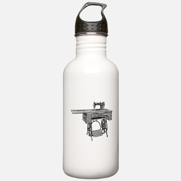vintage sewing machine Water Bottle
