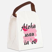 Aloha wau ia 'oe - Hawaiian I love you Canvas Lunc