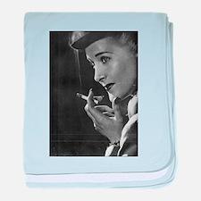 vintage smoking baby blanket