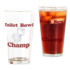 Toilet Bowl Champ Fantasy Football  Drinking Glass