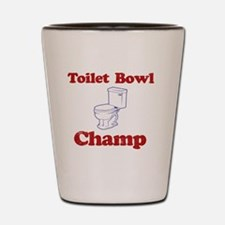 Toilet Bowl Champ Fantasy Football Lose Shot Glass