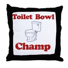 Toilet Bowl Champ Fantasy Football Lo Throw Pillow