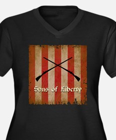 Sons of Liberty Flag Plus Size T-Shirt