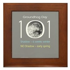 Groundhog Day 101 Framed Tile