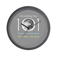 Groundhog Day 101 Wall Clock