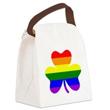 Rainbow shamrock Canvas Lunch Bag