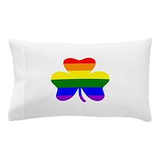 Rainbow shamrock Pillow Case
