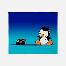Penguin & Black Swans Throw Blanket