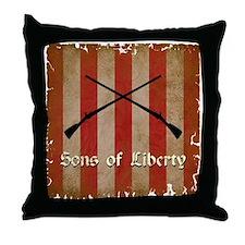 Sons of Liberty Flag Throw Pillow