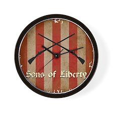 Sons of Liberty Flag Wall Clock
