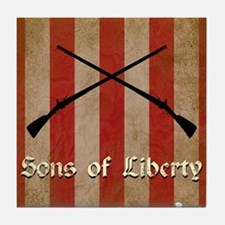 Sons of Liberty Flag Tile Coaster