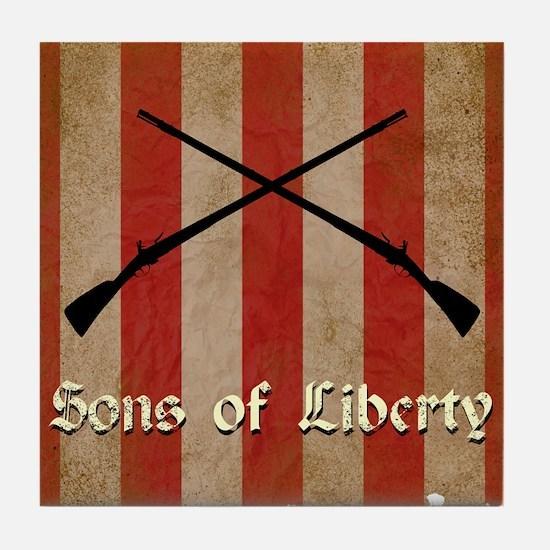 Sons of Liberty Flag Tile Coaster