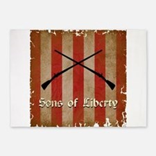 Sons of Liberty Flag 5'x7'Area Rug