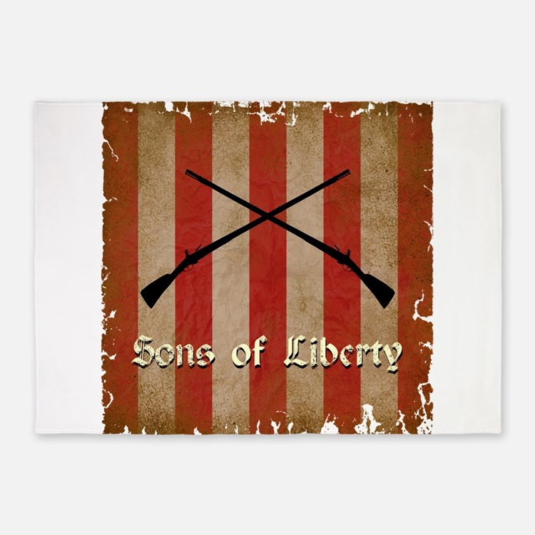 Sons of Liberty Flag 5'x7'Area Rug