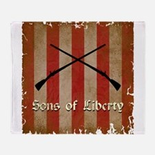 Sons of Liberty Flag Throw Blanket