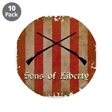 """Sons of Liberty Flag 3.5"""" Button (10 pack)"""