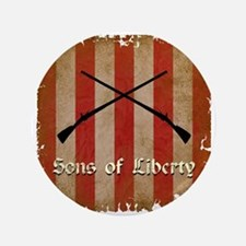 "Sons of Liberty Flag 3.5"" Button"