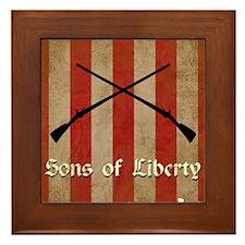 Sons of Liberty Flag Framed Tile