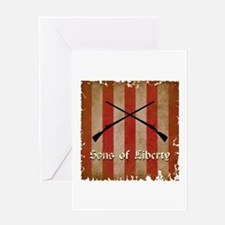 Sons of Liberty Flag Greeting Cards