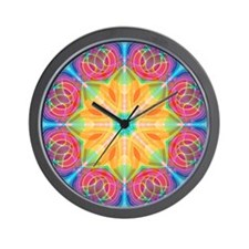 Abstract Tulip Wall Clock