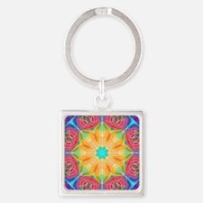 Abstract Tulip Square Keychain