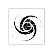 "TNS Logo Construction Square Sticker 3"" x 3"""