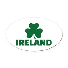 Ireland shamrock Oval Car Magnet