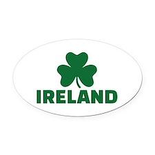 Ireland shamrock Oval Car Magnet