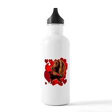 Irish setter valentine Water Bottle