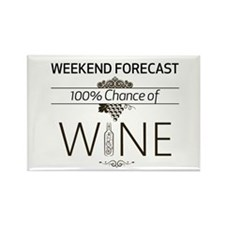 Weekend Forecast Rectangle Magnet Magnets