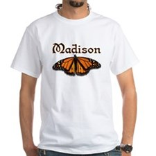 """Madison Monarch Butterfly"" White T-shirt"