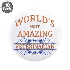 "Veterinarian 3.5"" Button (10 pack)"