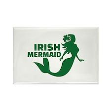 Irish mermaid Rectangle Magnet (10 pack)
