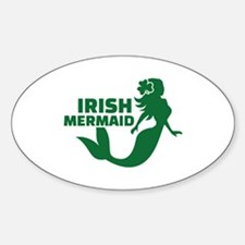Irish mermaid Sticker (Oval)