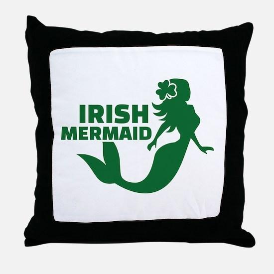 Irish mermaid Throw Pillow