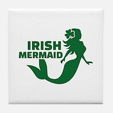 Irish mermaid Tile Coaster