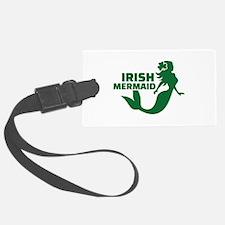 Irish mermaid Luggage Tag