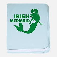 Irish mermaid baby blanket