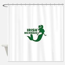 Irish mermaid Shower Curtain