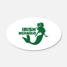 Irish mermaid Oval Car Magnet