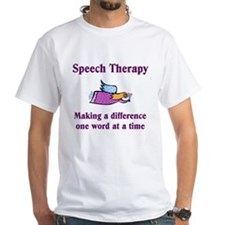Speech Therapy White T-shirt