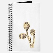 Botanical Poppies Journal