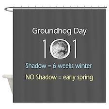 Unique Groundhog Shower Curtain