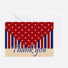 Thank You Americana Greeting Cards