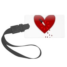 anti valentines bloody heart Luggage Tag