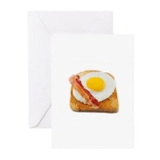 eggs & bacon Greeting Cards