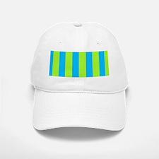 Blue Green Mirage Striped for Mort Baseball Baseball Cap