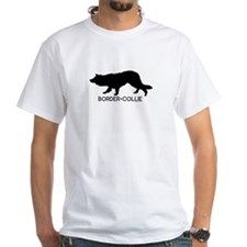 """Border Collie"" - White T-shirt"